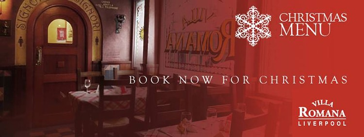 Book your Christmas parties with us now